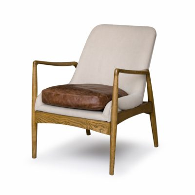 STEINER ARMCHAIR WITH WAX LEATHER SEAT