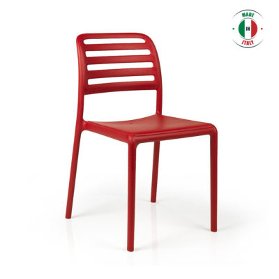 CHAD OUTDOOR DINING CHAIR RED