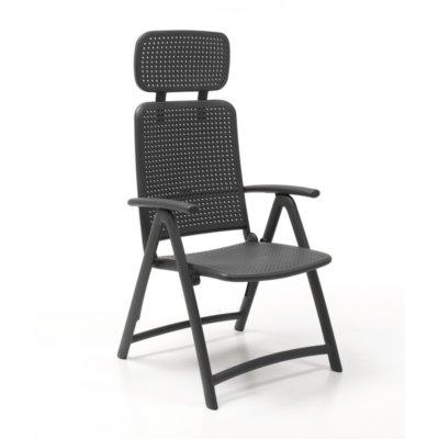 Aqua outdoor recliner chair