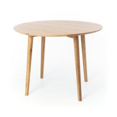 NORDIK OAK ROUND DROPLEAF TABLE