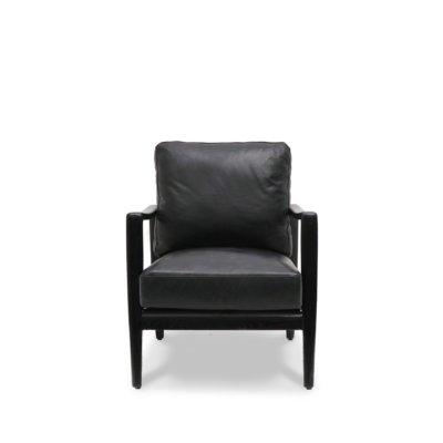 Black Reid leather armchair
