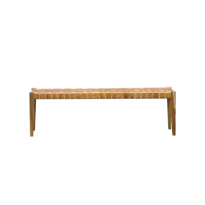 Hayes leather bench
