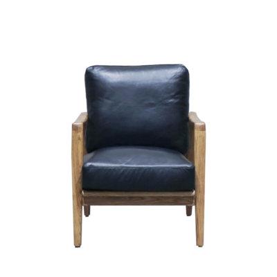 Finn leather armchair