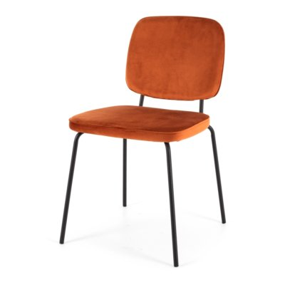 CLYDE ORANGE DINING CHAIR