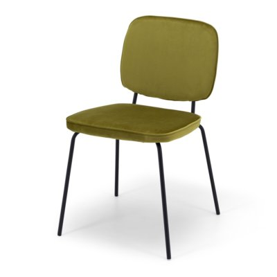 CLYDE VELVET STACKABLE DINING CHAIR
