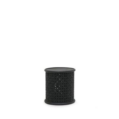 BAMI AGED BLACK SIDE TABLE