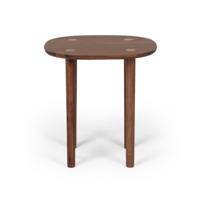 BRASS WAL NUT TABLE