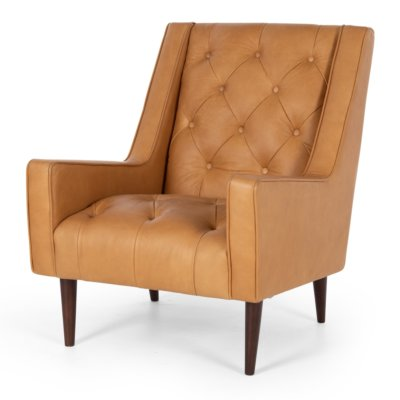 Frenchie armchair leather cognac