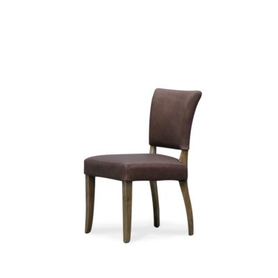 CRANE DINING CHAIR LEATHER BROWN