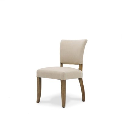 Crane dining chair cream linen